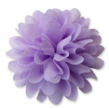 10cm Pompom Bloom LIGHT PURPLE Fabric Flower Applique